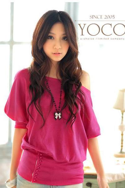 Bat Blouse Red