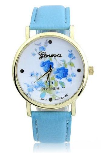 rose watch, flower leather watch, floral watch, leather watch, bracelet watch, vintage watch, retro watch, woman watch, lady watch, girl watch, unisex watch, AP00131