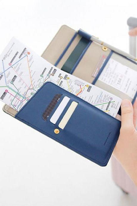 Anti-degaussing leather passport purse