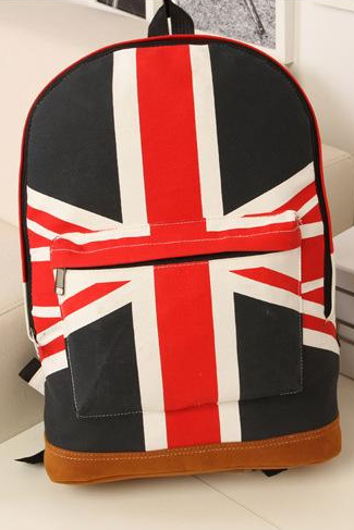 New Arrival Canvas Shoulder Bag British Flag Punk Bag Backpack Schoolbag