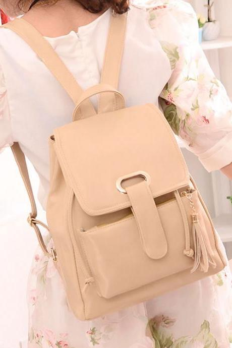 2015 new Nice Leather Stereoscopic Backpack