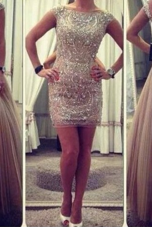 Custom Made Round Neck Long/Short Prom Dresses, Formal Dresses, Evening Dresses