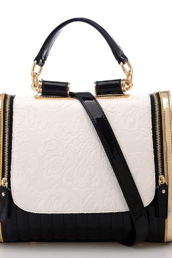 2015 new fashion Elegant Glossy Rose Pattern Purse