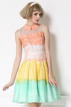 Melting Fashionable Rainbow Skirt