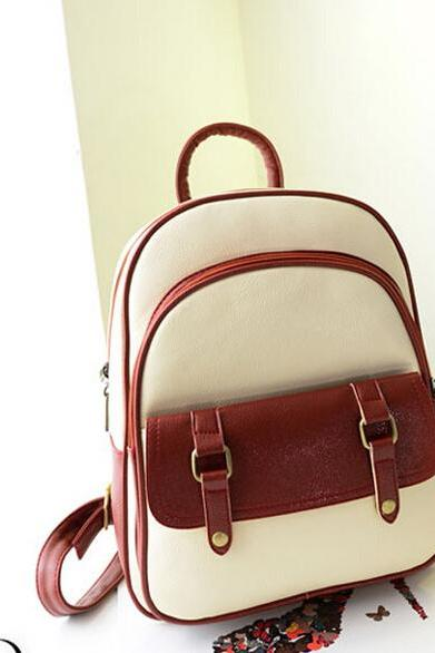 2015 new sexy fashion Fresh Plaid leather College Nice Backpack