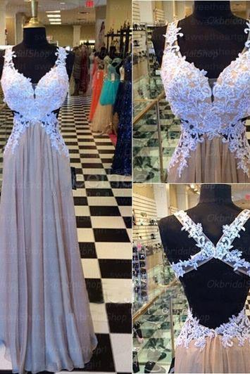 backless prom dresses, lace prom dress, chiffon prom dresses, long prom dresses, 2015 prom dresses, sexy prom dresses, dresses for prom, CM311