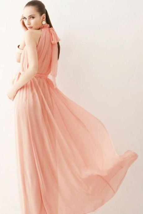 Peach Maxi Long Dress for Women High Quality But Affordable Price-RECEIVE THIS DRESS AFTER 2 DAYS