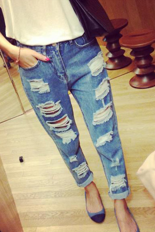 Fashion hole jeans VC40914MN