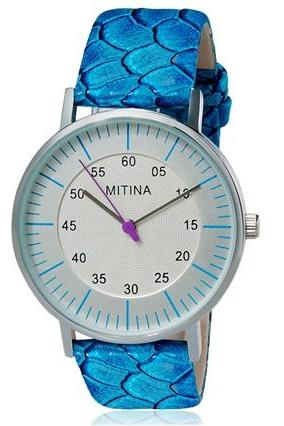 MITINA 145 Fashionable Women Analog Watch with Faux Leather Strap (Blue) M.