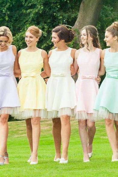 short bridesmaid dresses, off shoulder bridesmaid dress, satin bridesmaid dress, cheap bridesmaid dresses, bridesmaid dress 2015, BM015