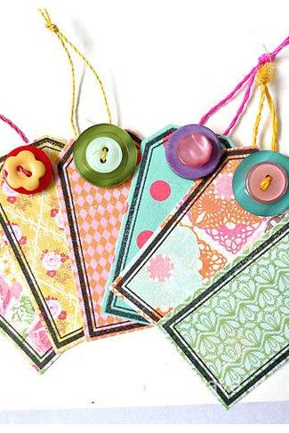 Tags colorful crate paper for Scrap booking / card making/ gift etc