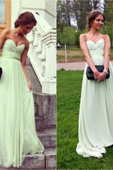 Custom Made 2015 Baby Green Long Prom Dresses ,Women Evening Dresses,party dresses,prom dress