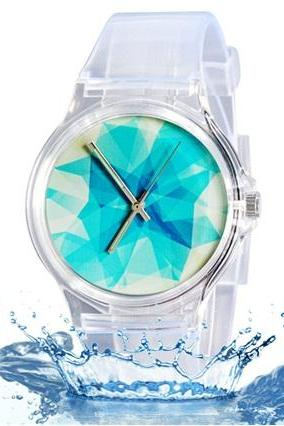 Unisex Willis Fashion Water Resistant Analog Wrist Watch with Dull Polish Silicone Band (Light Blue) M.