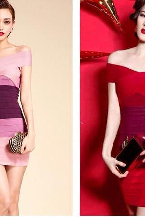 Knitting bandage dress
