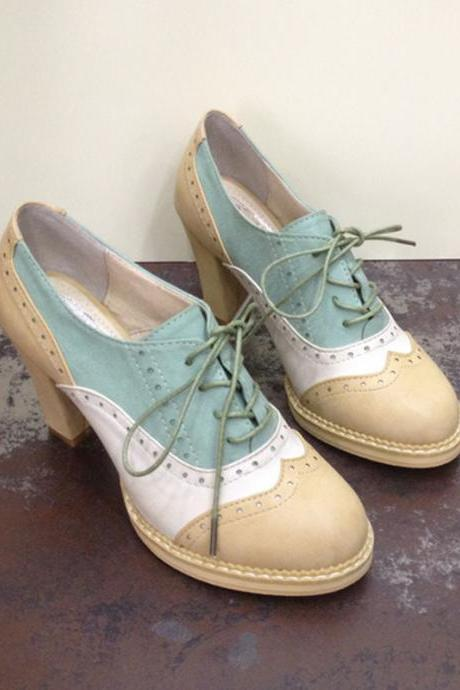 oxford spell color high heels 3814WR