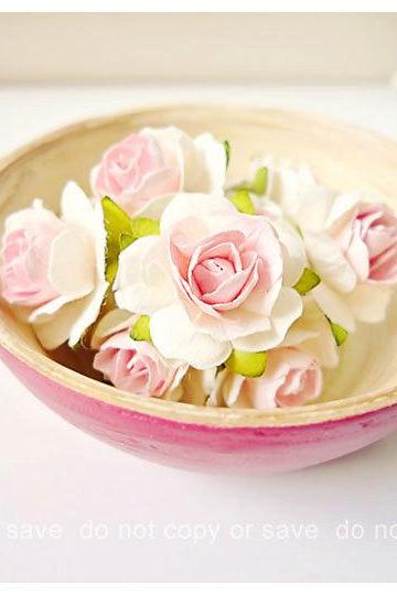 Millinery Heartshape Big flowers Buds paper flower / pack