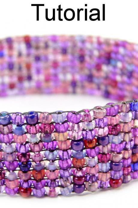 Beading Tutorial Pattern Bracelet - Square Stitch - Simple Bead Patterns - Pixelated #5368