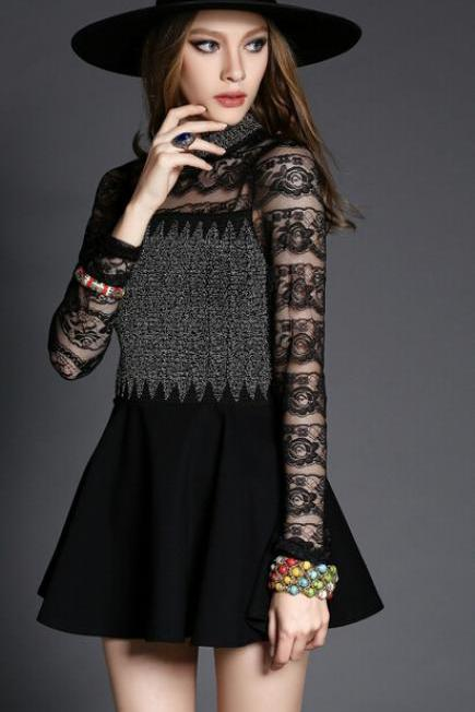 Heavy order beads lace dress