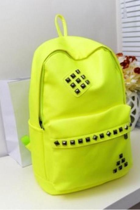 Fluorescent Studded Backpack