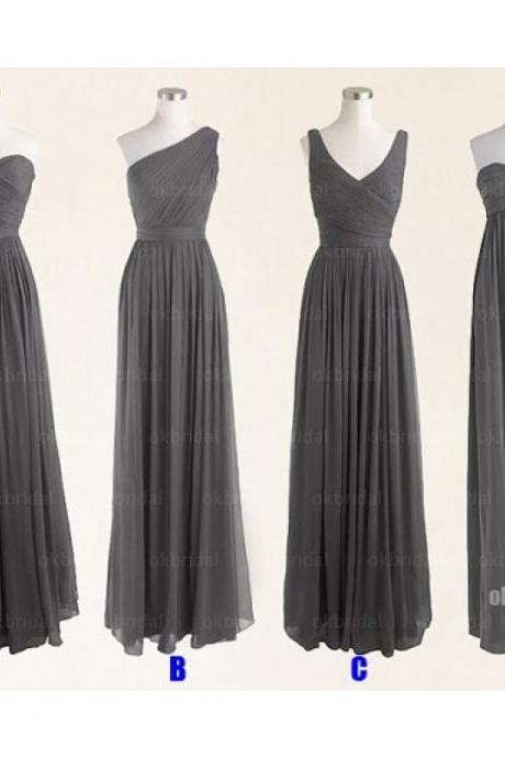 Grey bridesmaid dresses, chiffon bridesmaid dress, short bridesmaid dress, cheap bridesmaid dresses, bridesmaid dress 2015, BM052