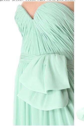 Custom Mint Long Prom Dresses, Bridesmaid Dresses, Sweetheart Chiffon Formal Dresses, Wedding Party Dresses, Luulla Prom Dresses