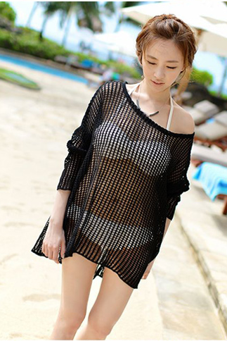 Long Sleeve Blouse Swimsuit Outer Garment Skirt Sexy Bikini MX