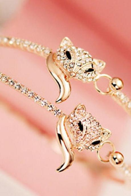 Fox fashion diamond bracelet
