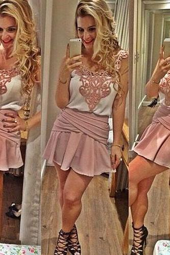 Fashion Lace Spliced Style Sling Two-Piece Dress