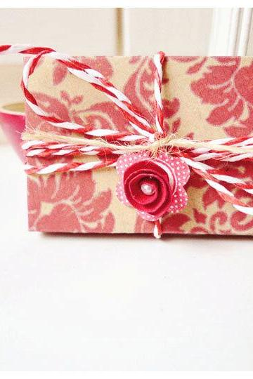 Envelope tiny kraft pattern paper
