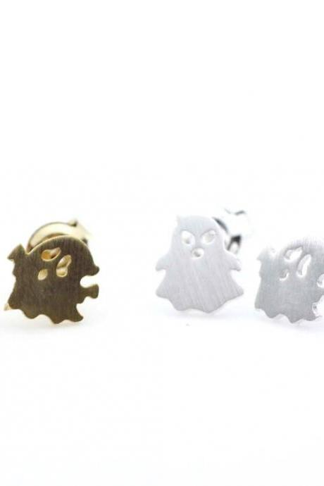 Fun and cute Angry Ghosts stud earrings in 2 colors
