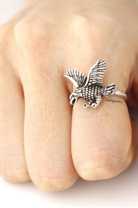 Eagle ring, retro eagle ring, retro ring, vintage ring, Eagle adjutable ring in 2 colors, R0330S