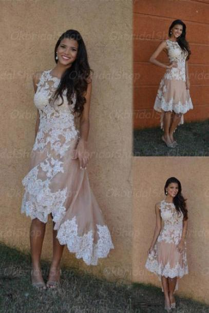 high low prom dresses, lace prom dress, fashion prom dresses, sexy prom dresses, 2015 prom dresses, popular prom dresses, dresses for prom, CM341