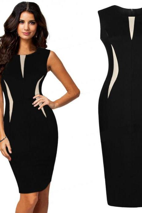 Sexy Ladies Celeb Sleeveless Slim Fashion Bodycon Party Cocktail Evening Dress