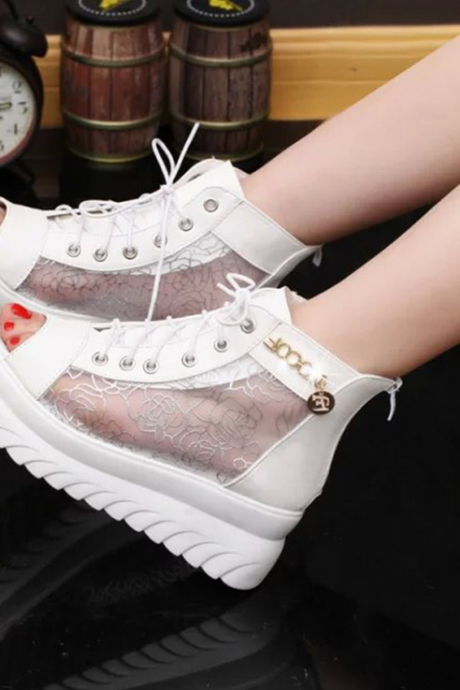 2015 lace platform sandal shoes fish mouth high-heeled shoes