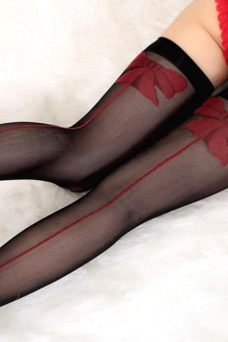 Sexy Sheer Lace Top Thigh High Stockings Thigh Highs Hosiery Women Stay Up WZ025