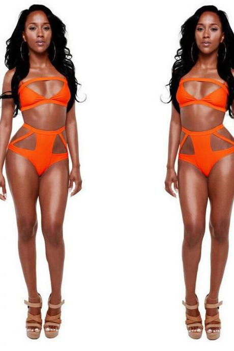 Sexy Women Bandage Bikini Push-up Padded Bra Swimsuit Bathing Monokini Swimwear