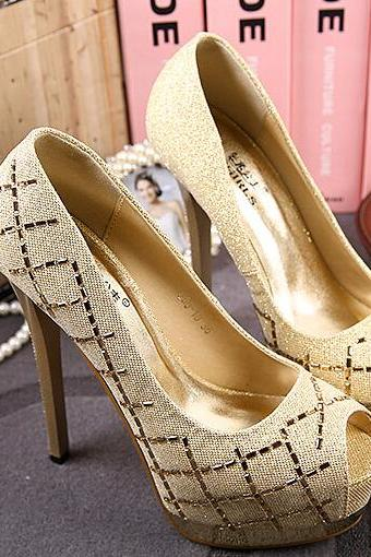 Sweet joker fine documentary shoes-gold