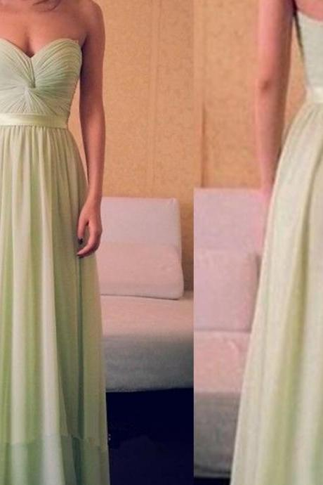 MInt Green LOng CHiffon prom dress