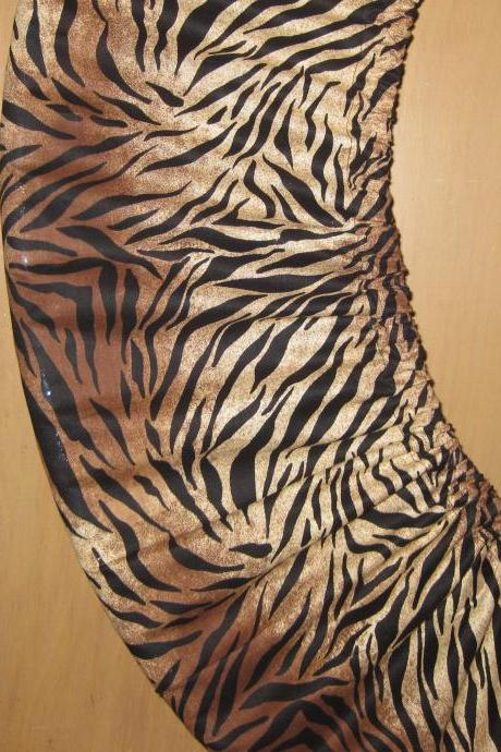 Hula Hoop Storage Bag Cover Hugger Carrier Animal Print Brown Black Stripes Festival Accessory