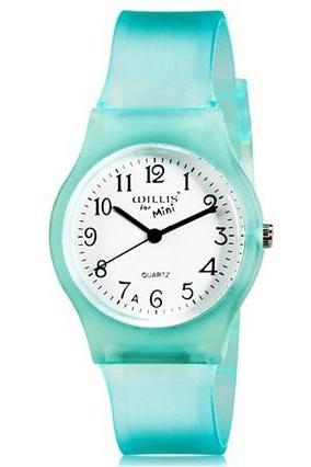 Willis for Mini Student Kid Candy Color Analog Quartz Wrist Watch (Light Blue)