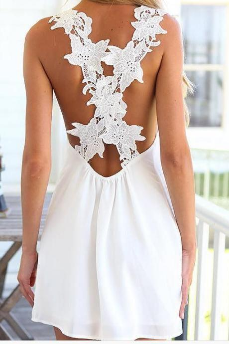 HOT CROSS LACE DRESS NO BELT