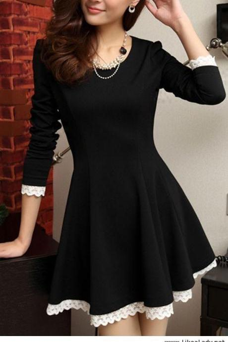 LACE LONG-SLEEVED DRESS VG41611MN
