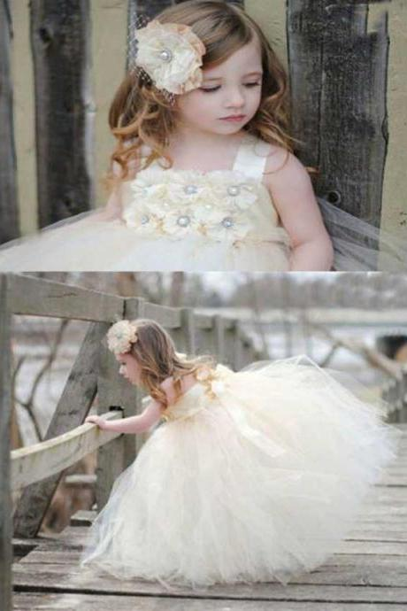2015 fashion beautiful flower children NEW Flower Girl Pageant Wedding Bridesmaid Party Birthday Dress