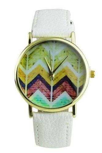 Hippie festival music party white unisex watch