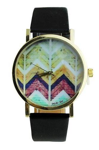 Hippie festival music party black unisex watch