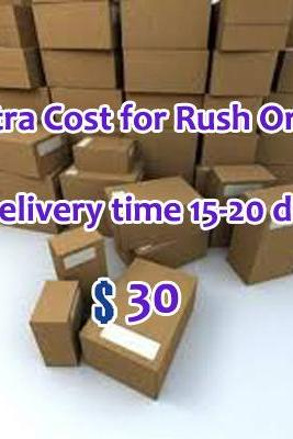 Extra Cost of Rush Order, Get goods within 15-20 days