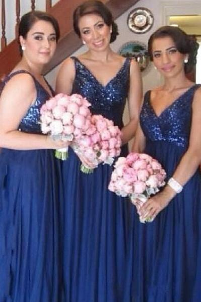 Bridesmaid dress, royal blue bridesmaid dress, long bridesmaid dress, off shoulder bridesmaid dress, bridesmaid dress with sequin, BD10
