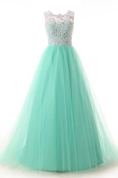 Custom Made Blue Long Prom Dresses 2015, Turquoise Prom Dresses, Formal Dresses, Graduation Dresses, Beautiful Evening Dresses