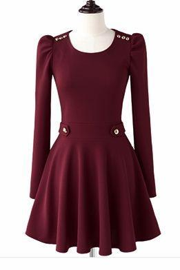 Classy Pleated Long Sleeve Dress
