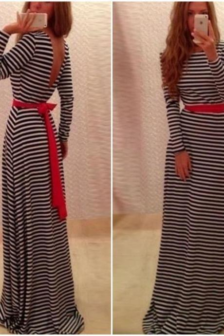 Cute And Classy Long Sleeve V Back Dress